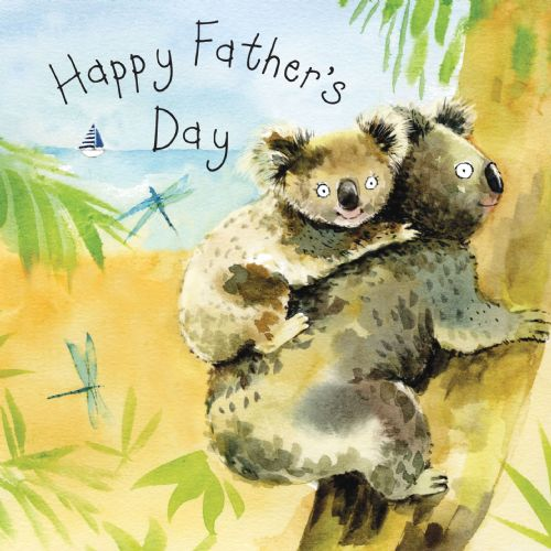 FIZ37 - Card For Father's Day Koalas
